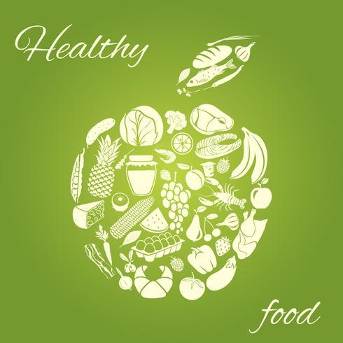 Hälsosam mat äpple vektor