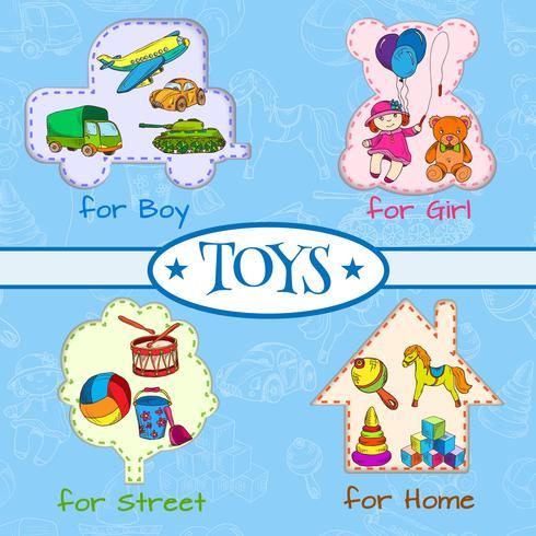 Spielzeug Icons Zusammensetzung vektor