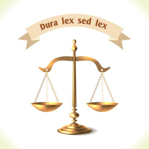 Gesetz-Symbol Gerichtsskala vektor