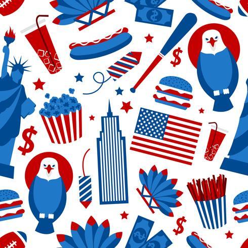 Nahtloses Muster New York USA vektor