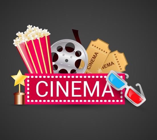 Cinema ikoner koncept vektor
