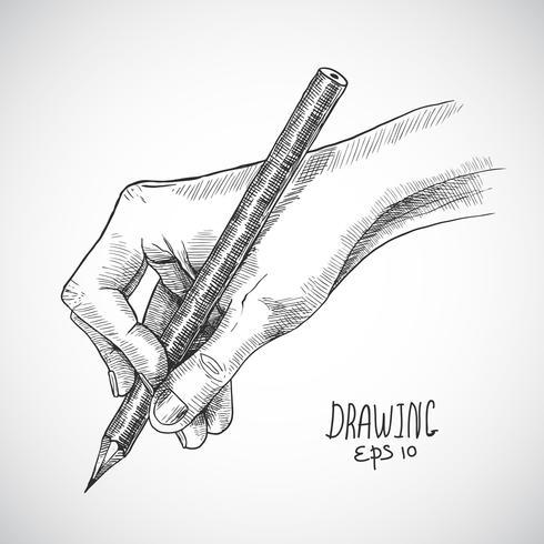 Sketch hand penna vektor