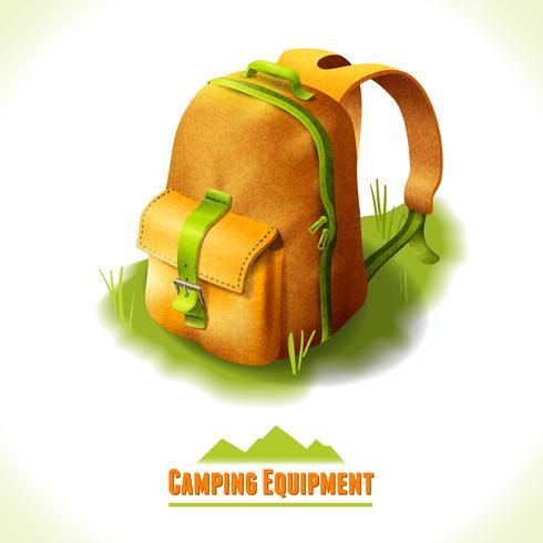 Camping symbol ryggsäck vektor