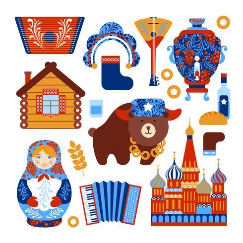 Russland-Reise eingestellt vektor