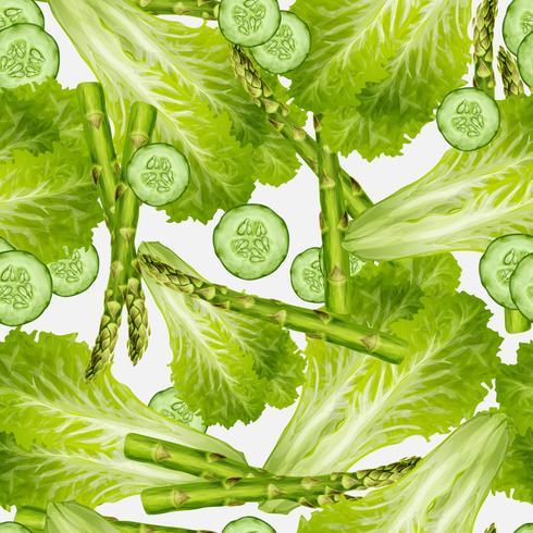 Grönsaker blandar sömlös bakgrund vektor