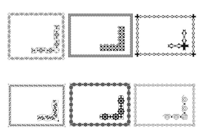 Art deco frame vector pack