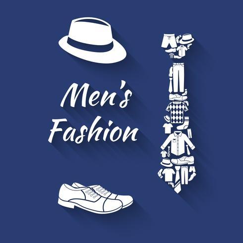 Kleidung Konzept Mann vektor