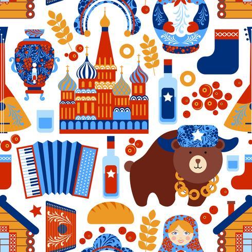 Ryssland reser sömlöst mönster vektor