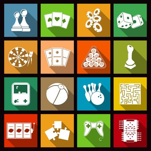 Spiel Icons Set vektor