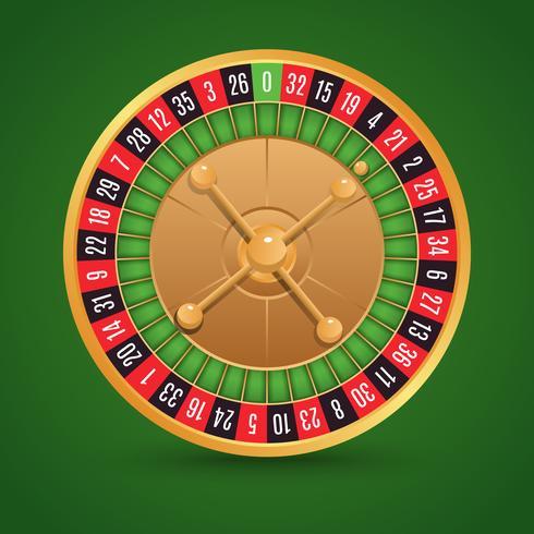 Realistisk roulette isolerad vektor