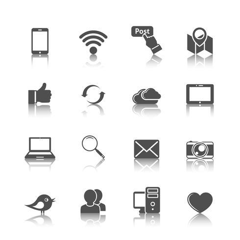 Sociala nätverk ikoner vektor