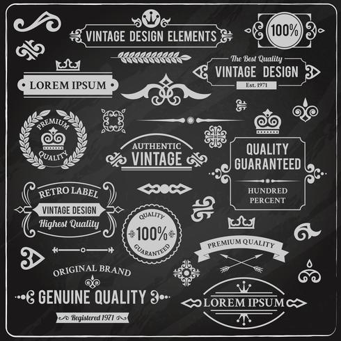 Vintage-Design-Elemente vektor