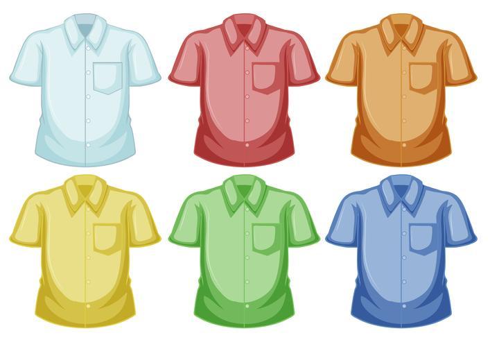 Skjorta mallar i olika färger vektor
