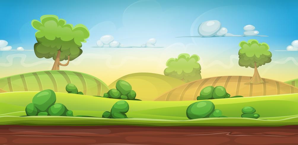 Nahtlose Landlandschaft für Ui-Spiel vektor