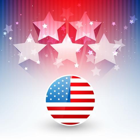 stilvoller Entwurf der amerikanischen Flagge vektor