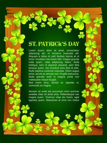 saint patrick dag design vektor