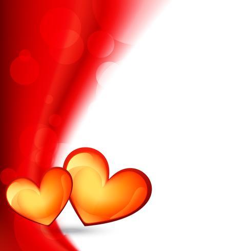 glänsande valentin dag bakgrund vektor
