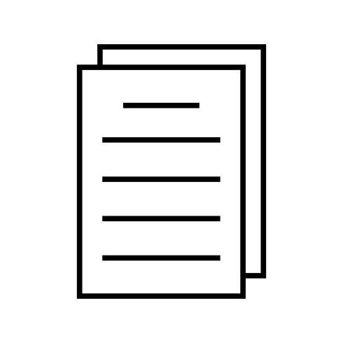 Dokumentlinje Svart Ikon vektor