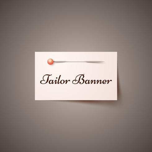 Nadel, Schneider Infografik. Business Banner vektor