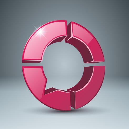 Dialogfeld, Symbol der Blasen 3d. vektor