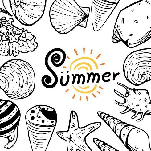 Design der Sommervektor-Sammlung vektor