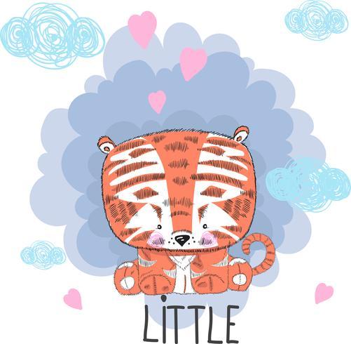 Söt bebis tiger vektor