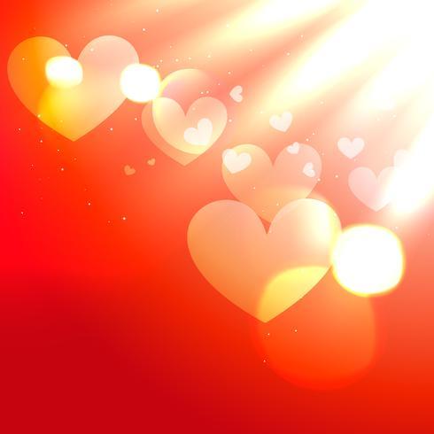 glänsande rött hjärta vektor