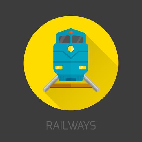 Bahn flach Symbol vektor