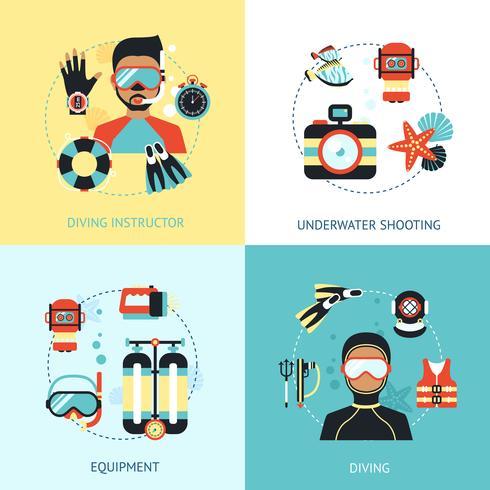 Dykning Design Concept vektor