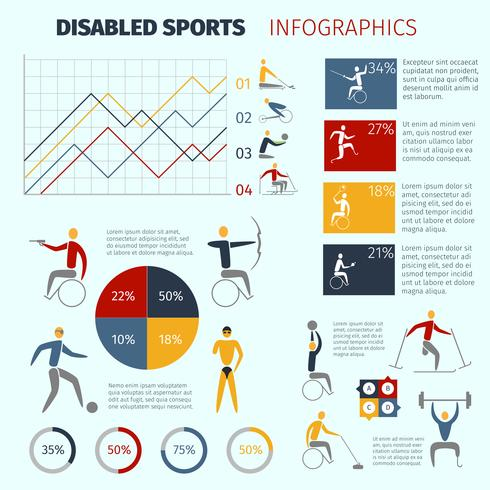 Handikappssport Infographics vektor