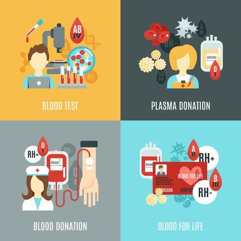 donator flat set vektor
