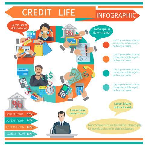 kredit liv infographics vektor