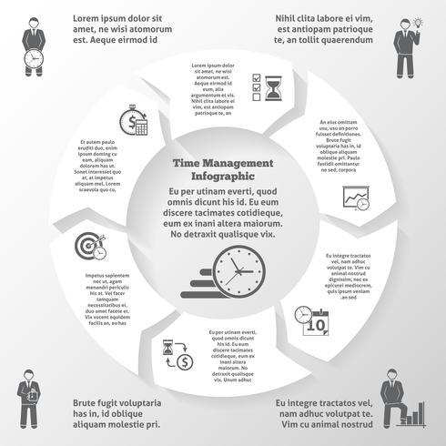 Zeitmanagement-Infografiken vektor