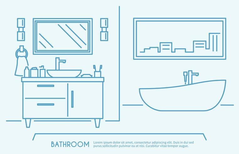 Badezimmermöbel Umriss vektor
