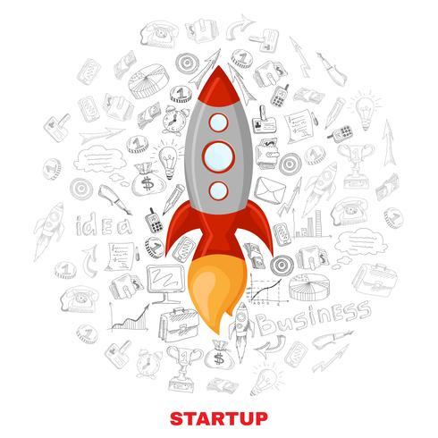 Business startup lansering koncept affischtryck vektor