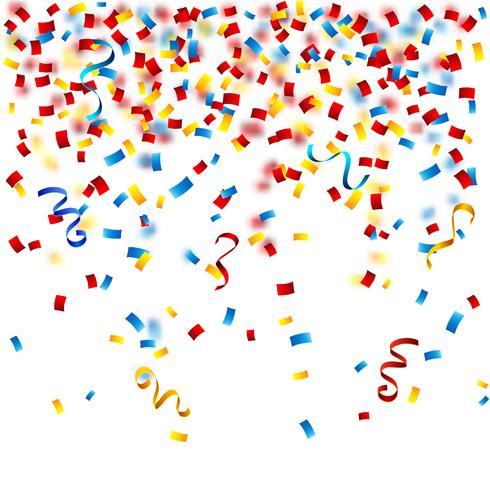Färgglada konfetti på den vita bakgrunden vektor