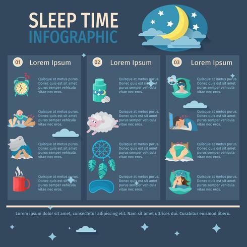 Schlafzeit Infografiken vektor