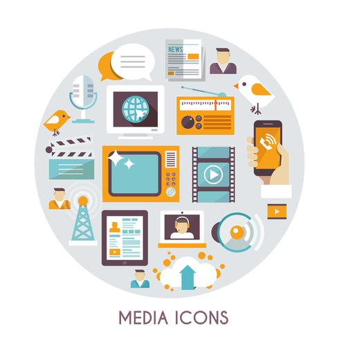 Massmedia koncept vektor
