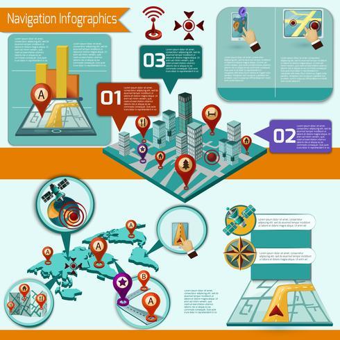 Navigations-Infographik-Set vektor