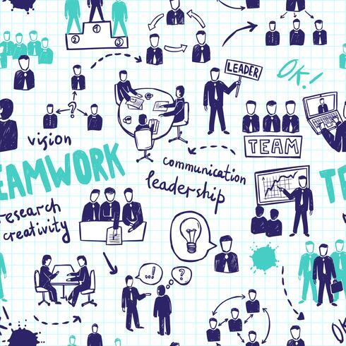 Nahtloses Muster der Teamarbeit vektor
