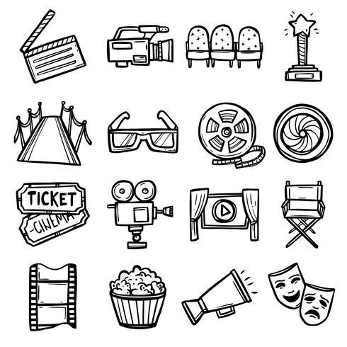 Kino-Icons Set vektor