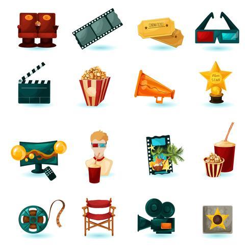 Cinema ikoner Set vektor