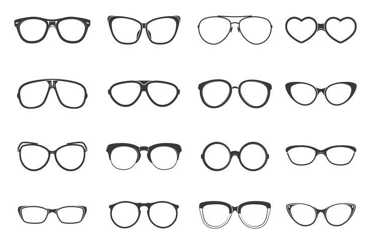 Glasögon Set Flat vektor