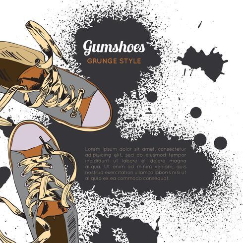 Gumshoes Skizze Grunge vektor