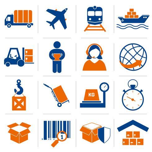 Logistische Symbole festgelegt vektor