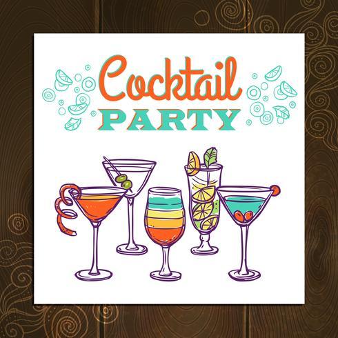Cocktailpartyaffisch vektor