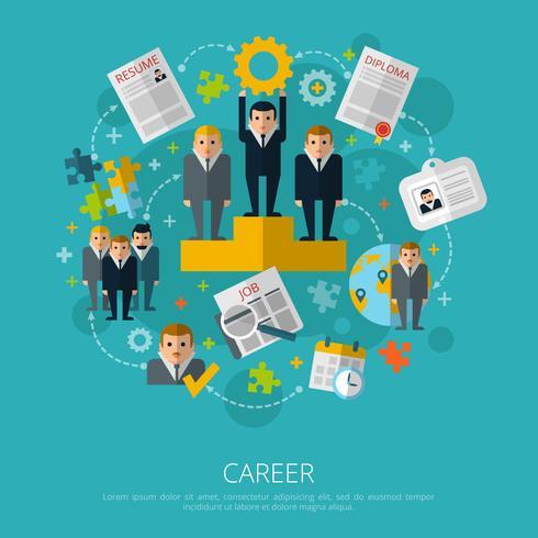 Personliga resurser karriärkoncept tryck vektor