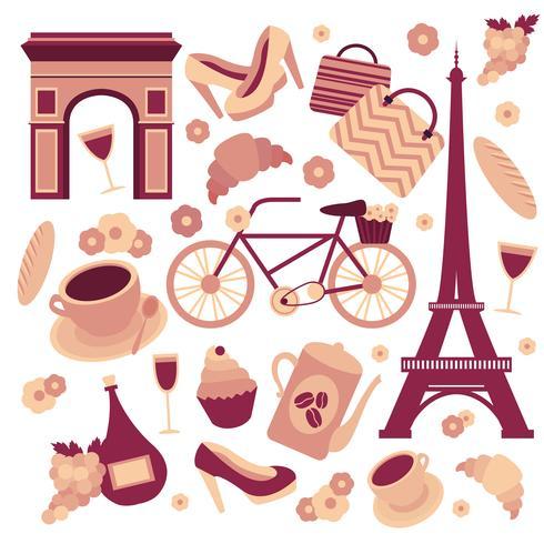 Paris-Symbolsammlung vektor