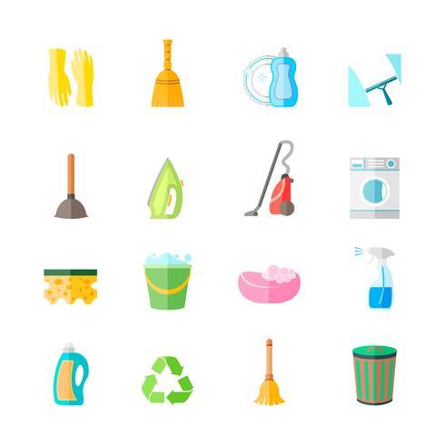 Ställa in ikoner för rengöring vektor