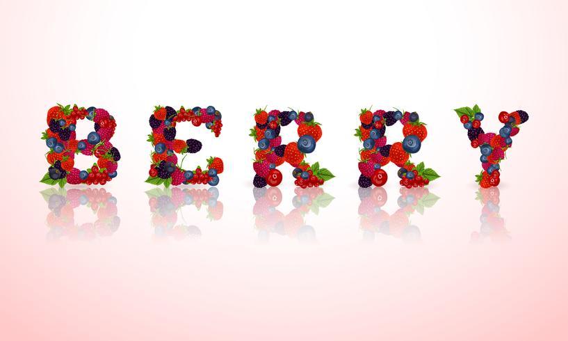 Beerenwort Emblem vektor